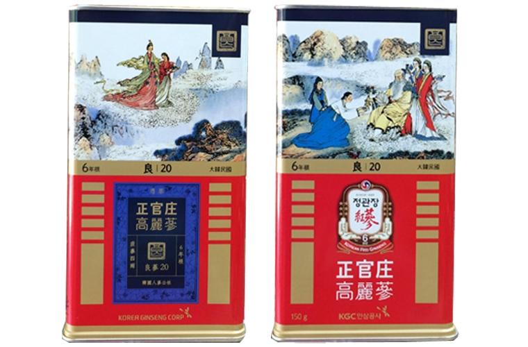 Hồng sâm củ khô KGC 20PCS 150g 7 củ - Hồng sâm chính phủ Hàn Quốc 1
