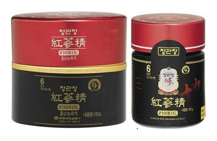 Cao địa sâm Hàn Quốc KGC thượng hạng hộp 3 lọ x 100g 2
