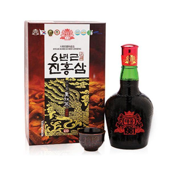 Nước Hồng Sâm 6 năm tuổi Taewoong Hàn Quốc chai 700ml 2