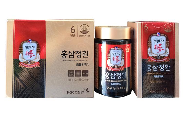 Viên cao hồng sâm Hàn Quốc KGC Cheong Kwan Jang hộp 2 lọ x 168g 1