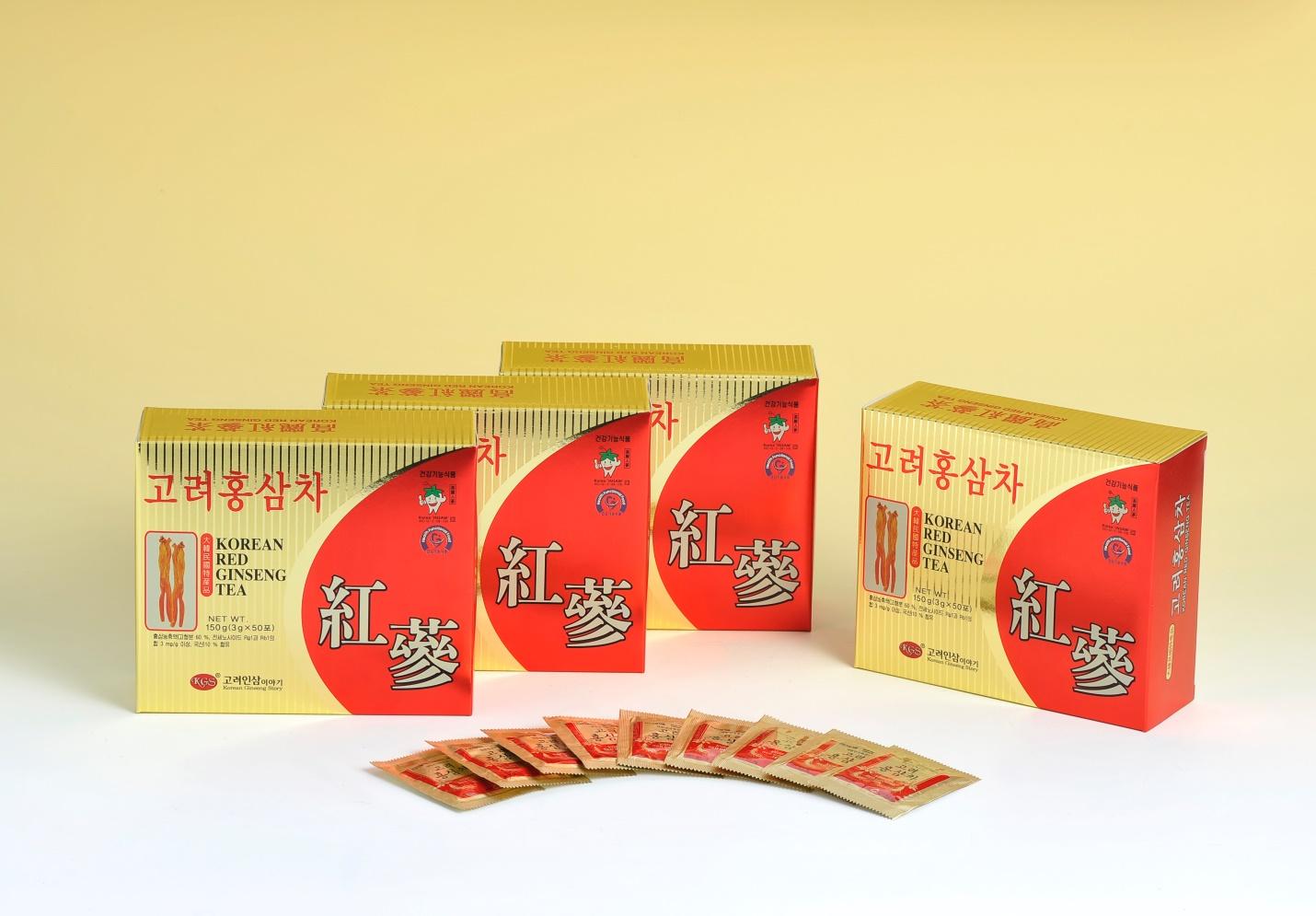 Trà sâm Hàn Quốc KGS hộp 50 gói 1