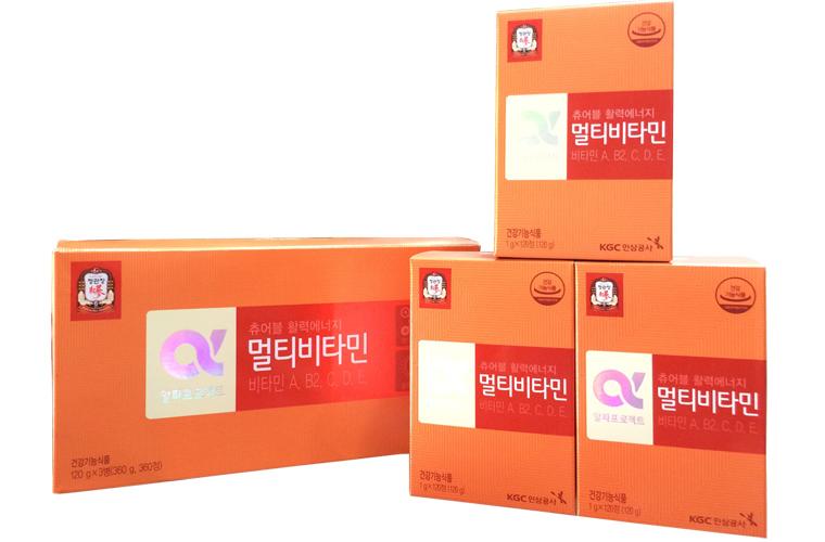 Viên cao hồng sâm Hàn Quốc cao cấp KGC vitamin e hộp 360 viên 1