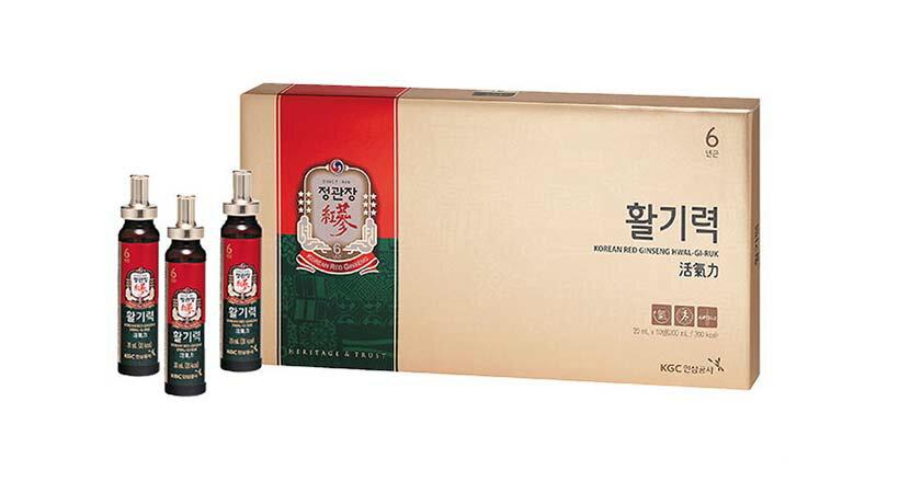 Nước hồng sâm KGC hộp 10 ống 2