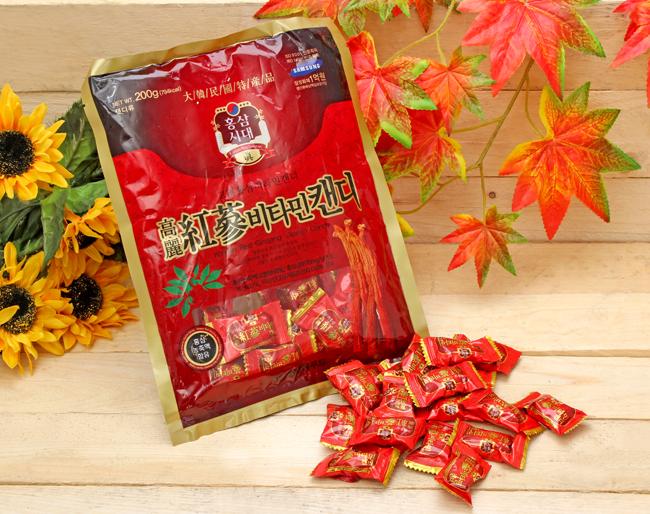 Kẹo hồng sâm vitamin Hàn Quốc 200g 1