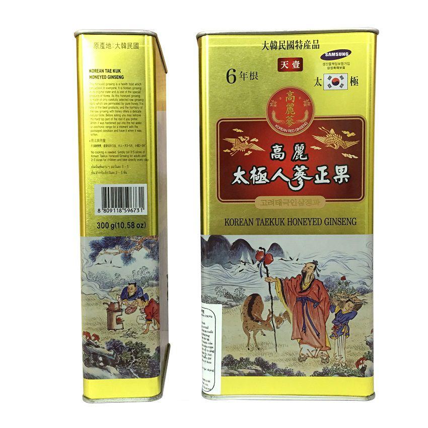 Sâm Hàn Quốc tẩm mật ong hộp thiếc 600g hãng Deadong 1