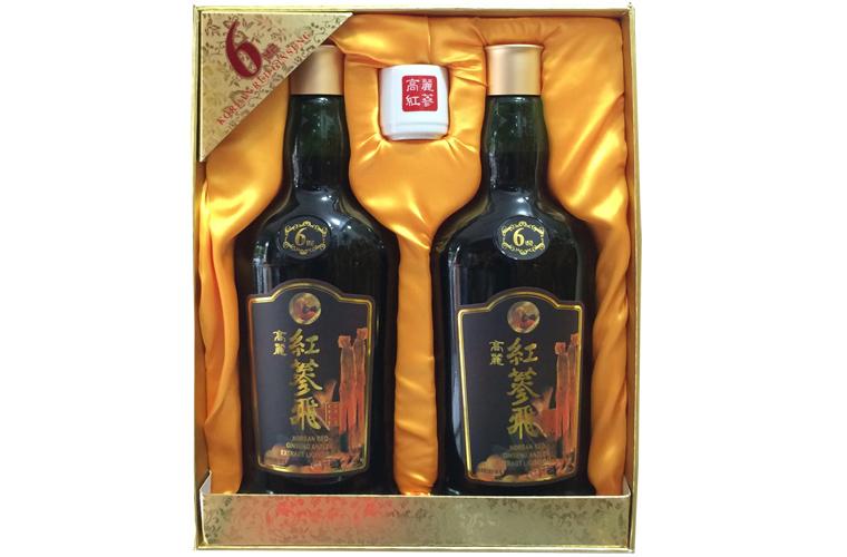 Nước hồng sâm nhung hươu linh chi KGS hộp 2 chai x 750ml 1