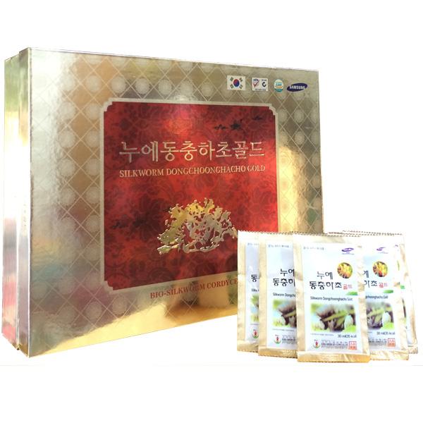 Nước đông trùng hạ thảo Hàn Quốc hộp gỗ 60 gói 1