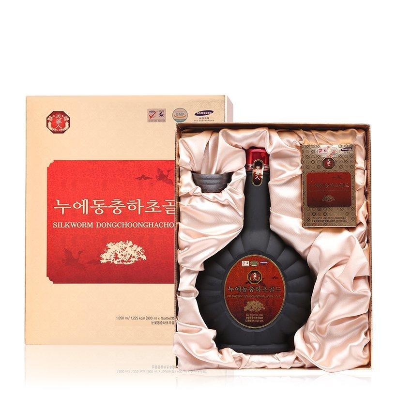 Nước đông trùng hạ thảo chai 900ml mẫu hộp quà tặng 1