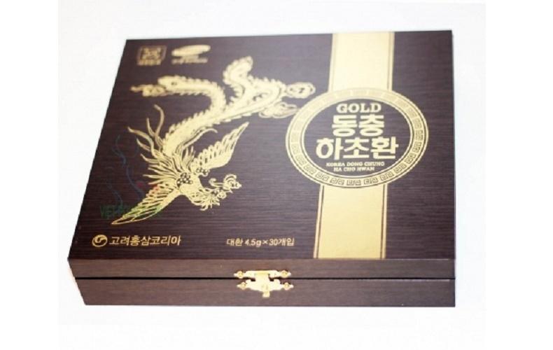 Viên đông trùng hạ thảo Hàn Quốc cao cấp hộp gỗ 30 viên 1