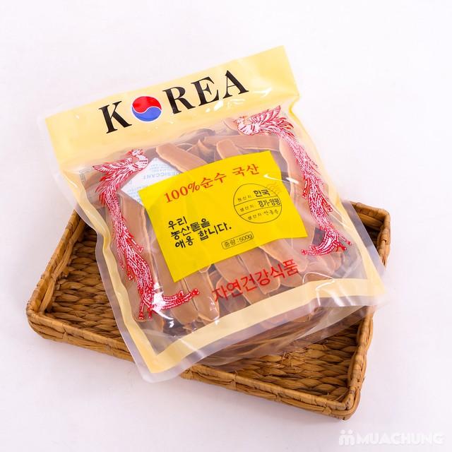Nấm linh chi đỏ Hàn Quốc thái lát bịch 500g 1