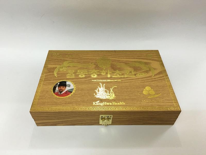 Viên đông trùng hạ thảo Hàn Quốc hộp gỗ vàng 30 viên 1