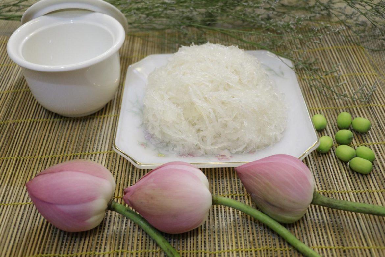 Hướng dẫn cách chưng tổ yến với hạt sen, bạch quả, táo tàu và nhãn nhục thơm ngon nhất 1