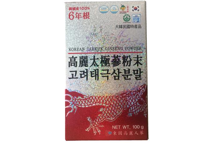 Bột hồng sâm 100% Hàn Quốc Dongil lọ 100g 2