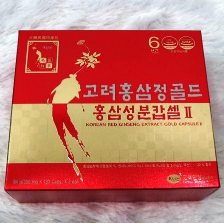 Viên hồng sâm KGS Hàn Quốc 2 lọ x 120 viên 2