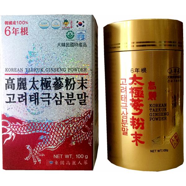 Bột hồng sâm 100% Hàn Quốc Dongil lọ 100g 1