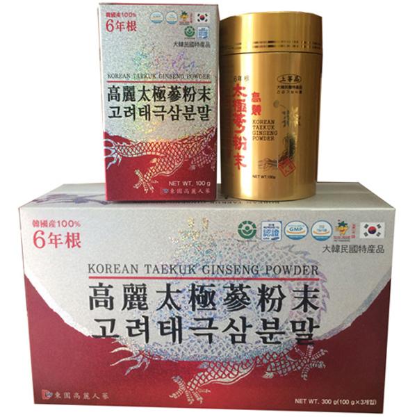 Bột Hồng Sâm Hàn Quốc 100% Dongil hộp 3 lọ x 100g