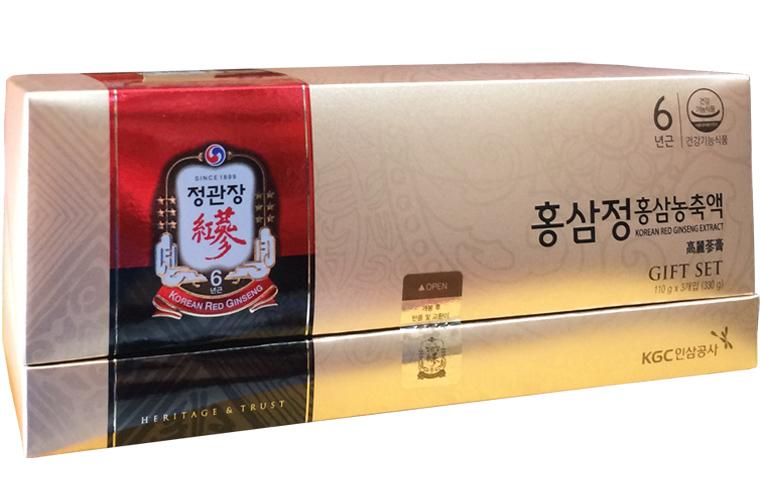 Cao tinh chất hồng sâm 6 năm tuổi 100% KGC hộp quà tặng 3 lọ x 110g - Cheong Kwan Jang 1