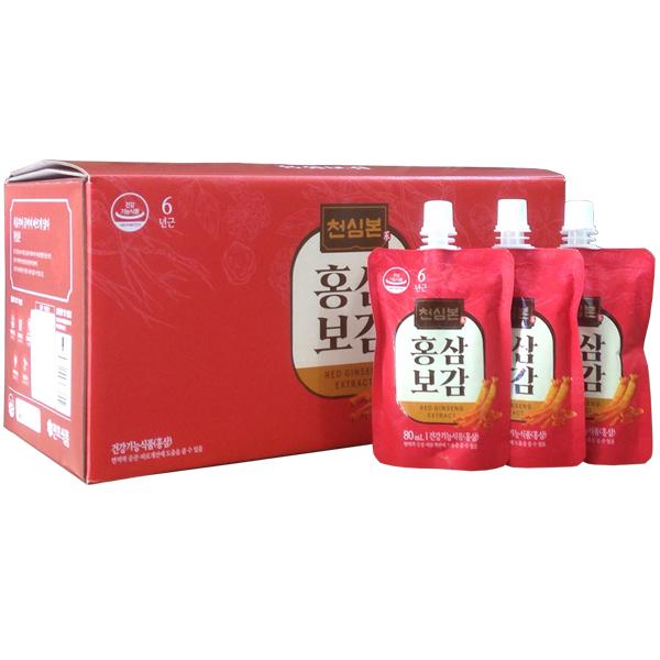 Nước hồng sâm Chunho hộp 30 gói x 80ml 1