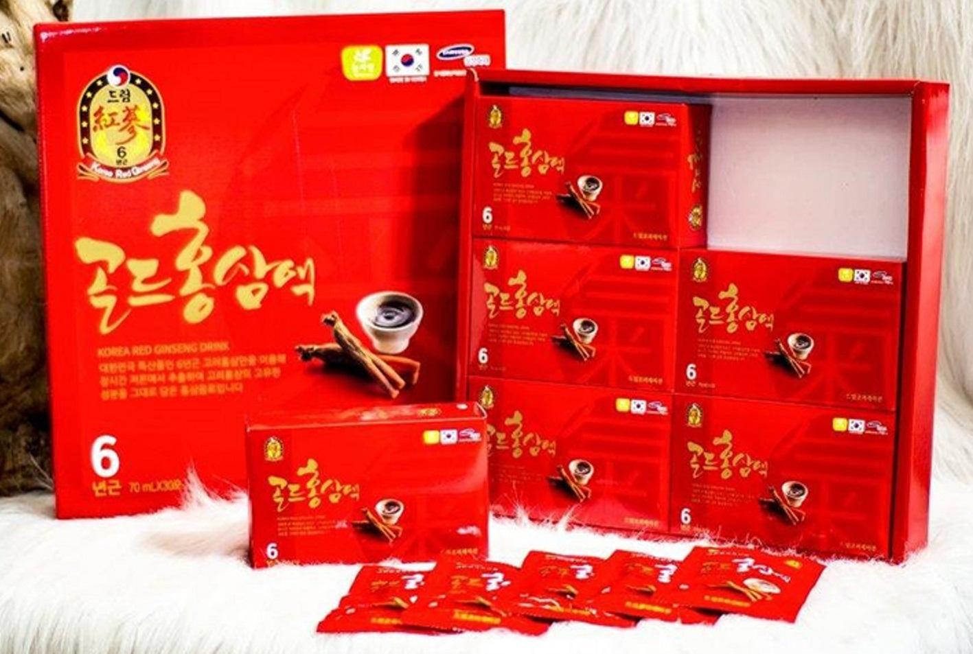 Nước Uống Hồng Sâm 6 Năm Korea Red Ginseng Drink Sobek (70 ml x 30 gói) 1