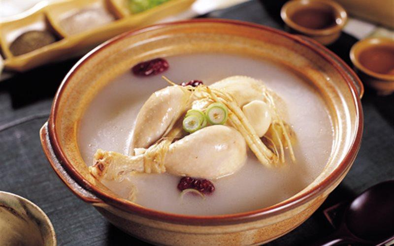 Món cháo nhân sâm, gà Hàn Quốc - Nhân sâm KIV