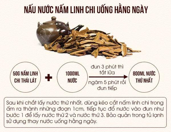 Mách nhỏ: Cách nấu trà nấm linh chi thái lát cực chuẩn 3