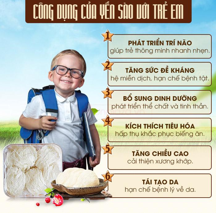 Trẻ em ăn nhiều tổ yến sào có tốt không và nên cho trẻ ăn yến lúc ...